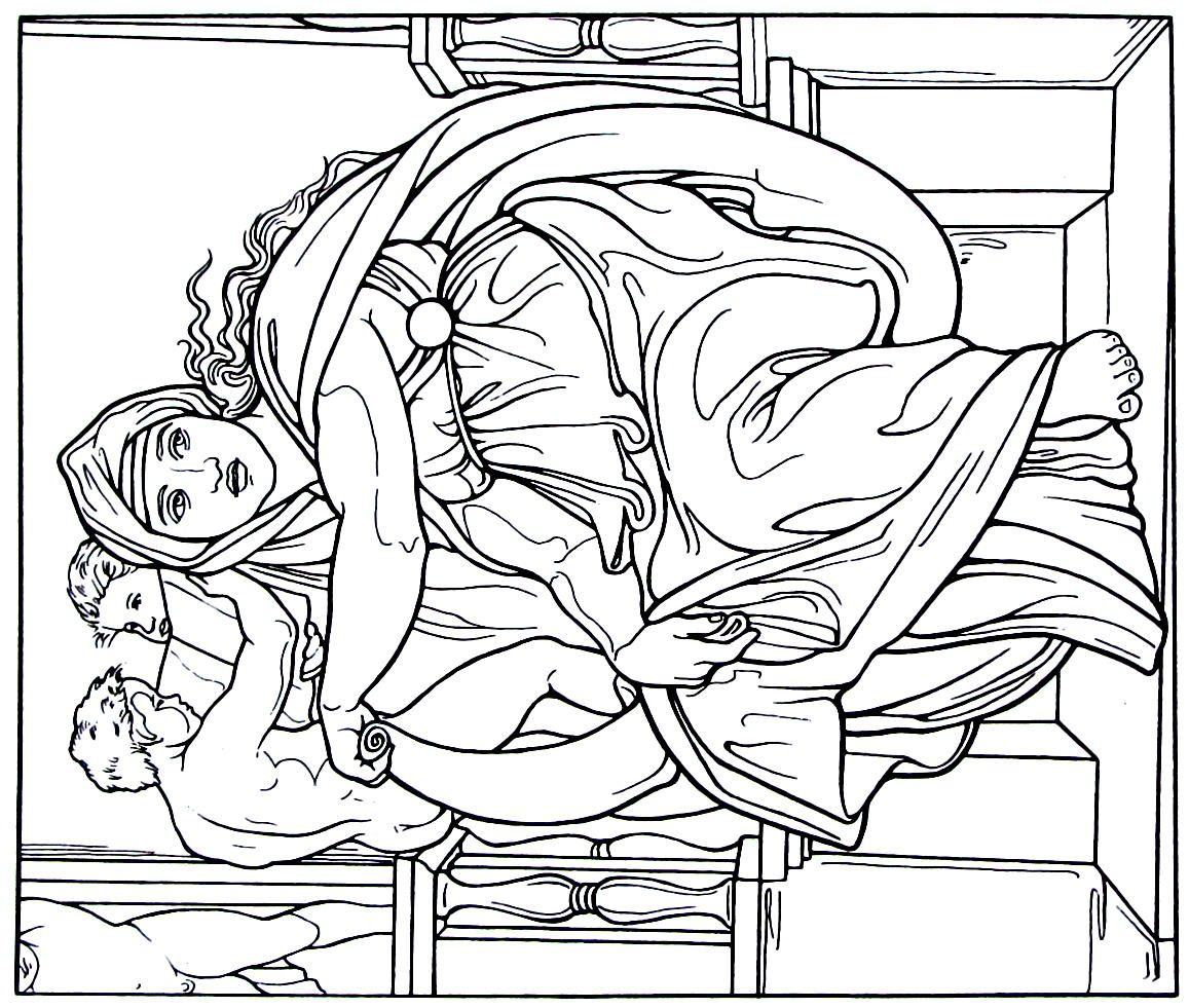 Michelangelo Sistine Chapel Coloring Pages