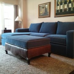 Reupholster Sofa South London Mid Century Modern Microfiber Reupholstered And Ottoman Material Used Is Blue
