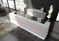 Modern White Reception Desk Design Led Reception Desks