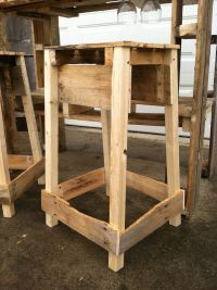 Pallet Bar Stool. | Pallet and Reclaimed Creations ...