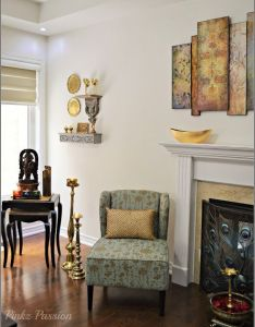 Brass decor vignettes global design indian home  also pin by mango lassi on pinterest grey shelves rh