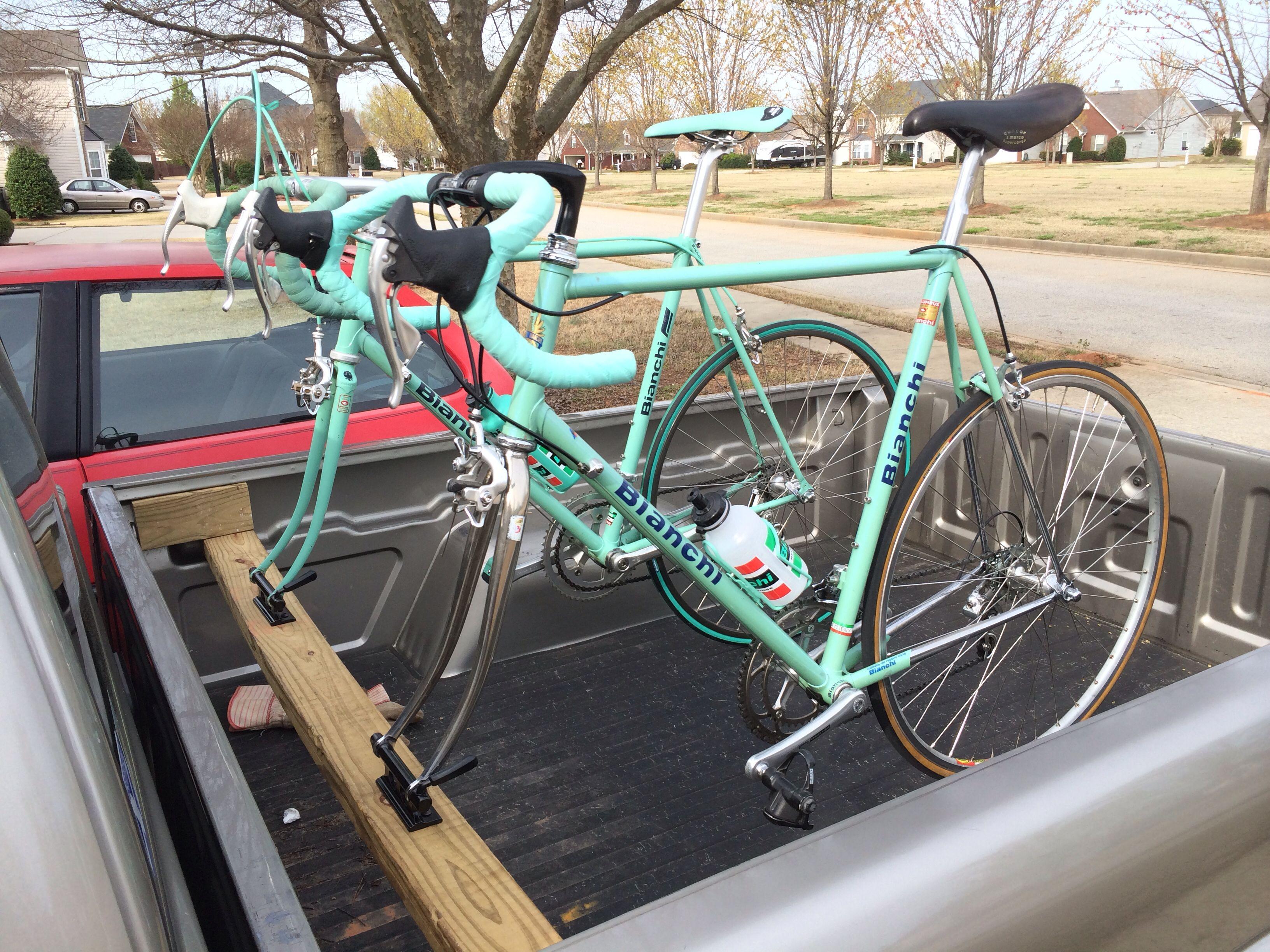 Truck mount bike rack.