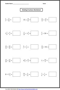 Dividing Fractions Worksheets | What's New | Pinterest ...