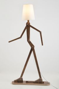 DIY fancy human shape standard lamp with flexible arm ...