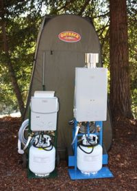 Outdoor Camping Shower Ideas - Propane camping shower ...