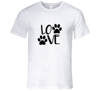 Dog Paw Print t-shirt Dog love paw print t shirt love dog ...