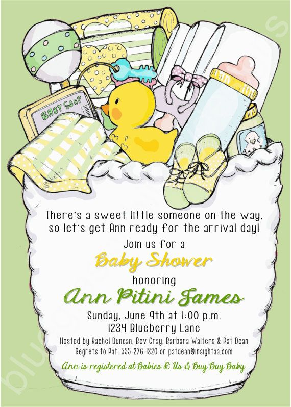 Neutral/ No Gender Baby Shower Printable Invitation