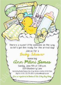 Neutral/ No Gender Baby Shower Printable Invitation ...