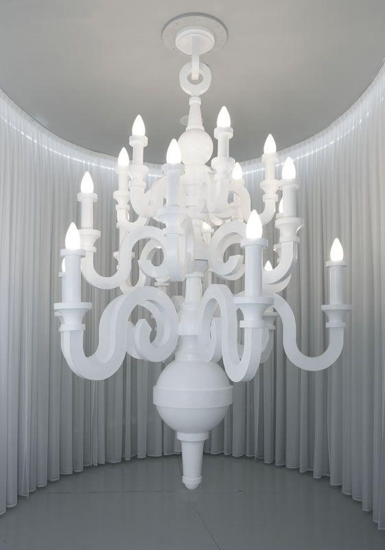 Chandelier Lamp Made From Paper Exhibition Studio Job The Groninger Museum Groningen