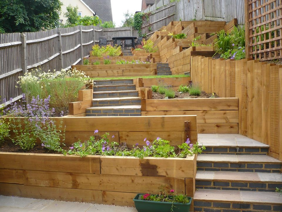 Child Friendly Terraced Garden Google Search Kids' Backyard