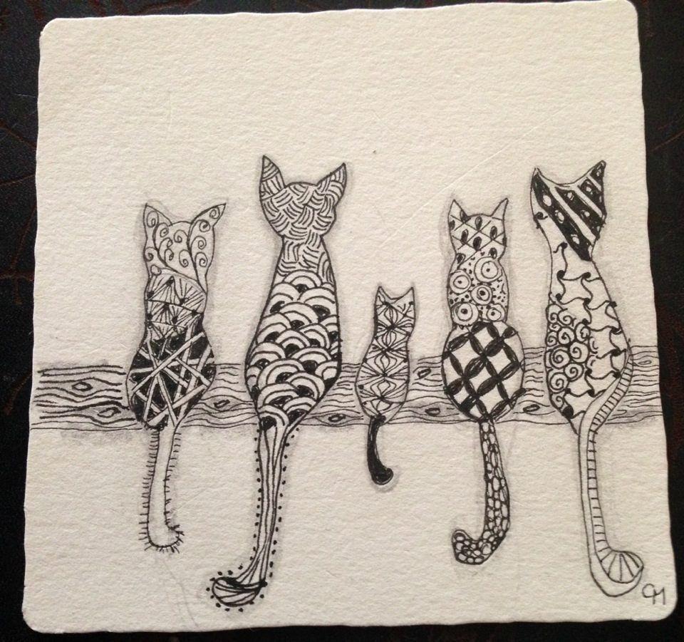 Cute Zentangle Christmas Card Ideas