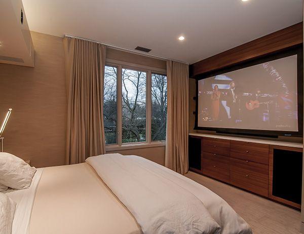 Bedroom Projection Screen  Interior  Pinterest