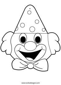 Disegni di Carnevale da colorare - Pagliaccio ...