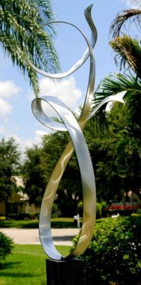 Modern Art Metal Abstract Garden Sculpture Alure / By Jon ...