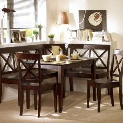 Kitchen Table And Chairs Set With Booth Comfortable Patio Espresso Corner Bench Dining