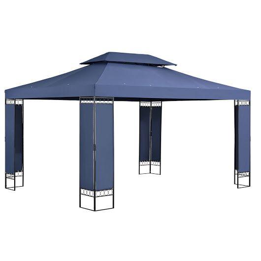 Pavillon Xm Blau Weiss Anthrazit Wohnstatt