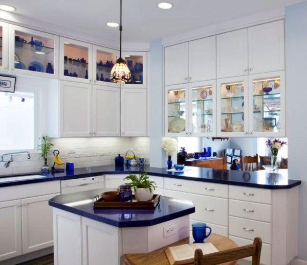 white kitchen cabinets blue countertops Blue Kitchen Countertops on Pinterest | Blue Granite, Blue