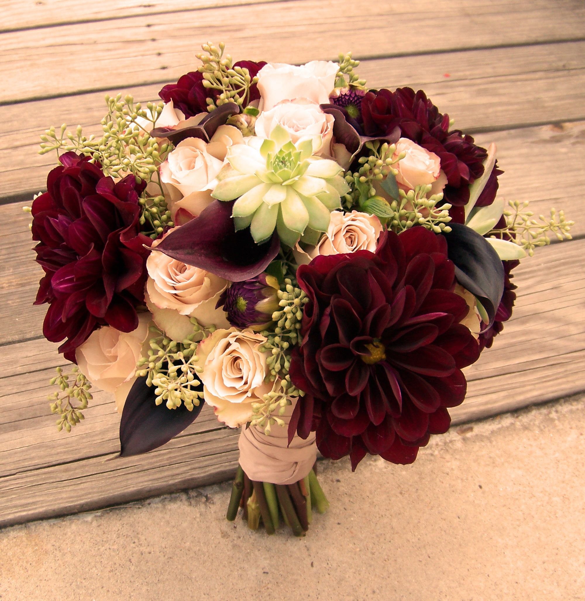Dahlia And Peonies Bouquet