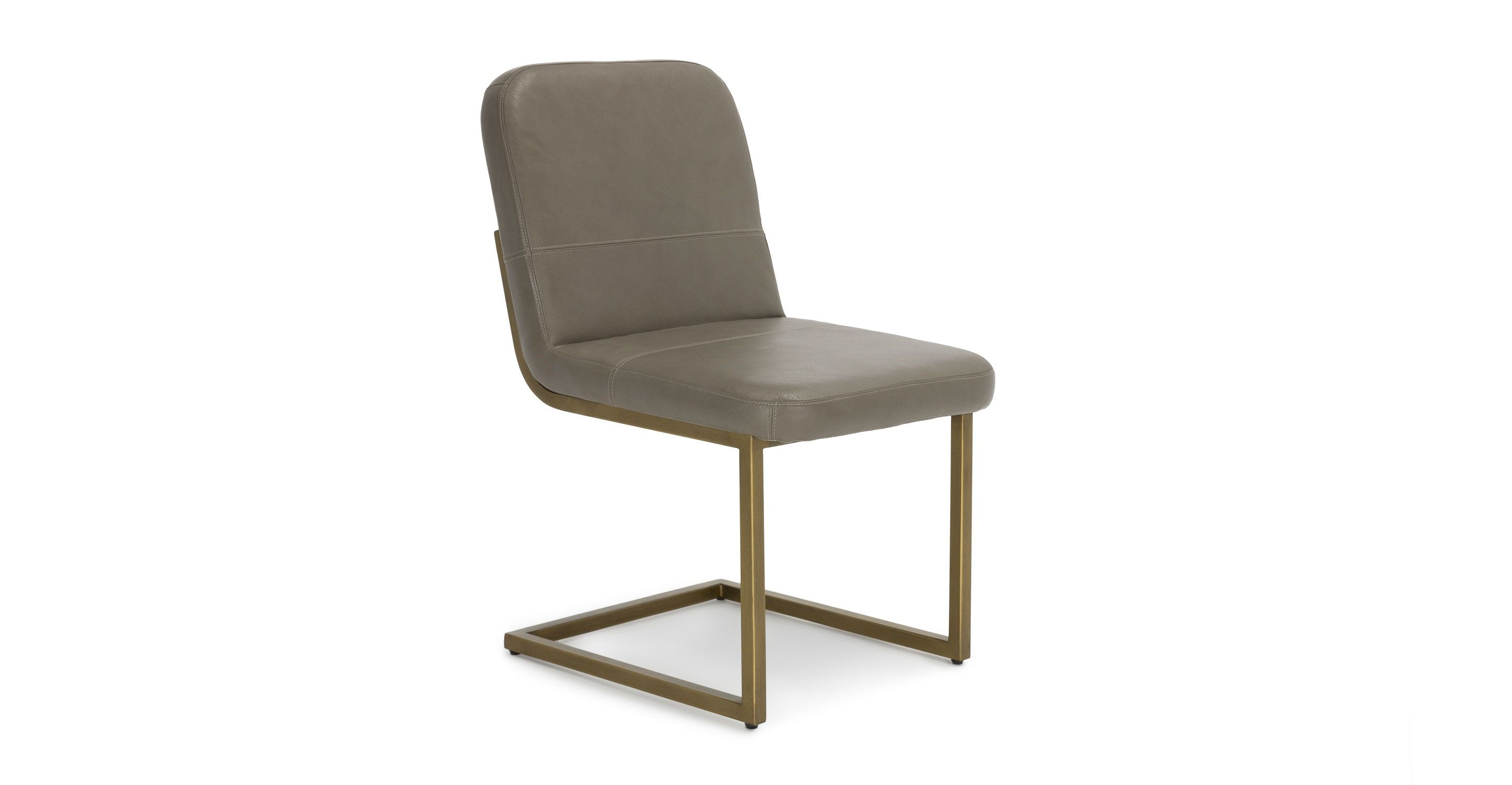 metal frame leather dining chair maker jim steel gray gold article alchemy modern furniture