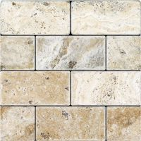 Tumbled Travertine - 3x6 Picasso | Tile stores, Travertine ...