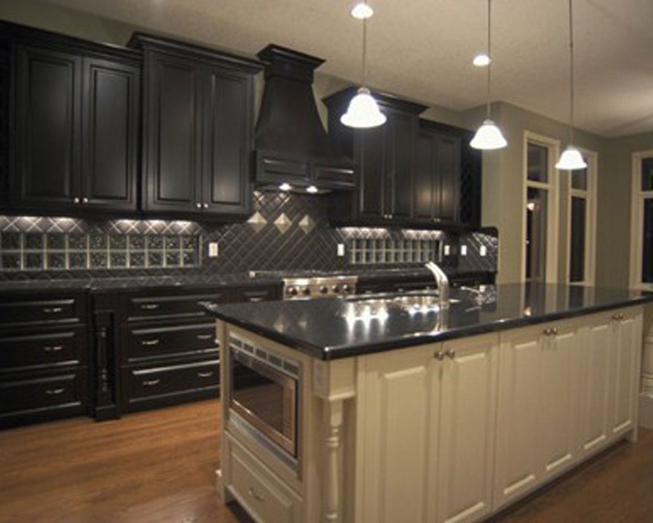 Finest Design Black Kitchen Cabinets Wallpapers  New