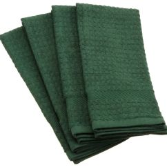 Green Kitchen Towels Tools Store Amazon Dii 100 Cotton Basic Waffle Terry Towel Set