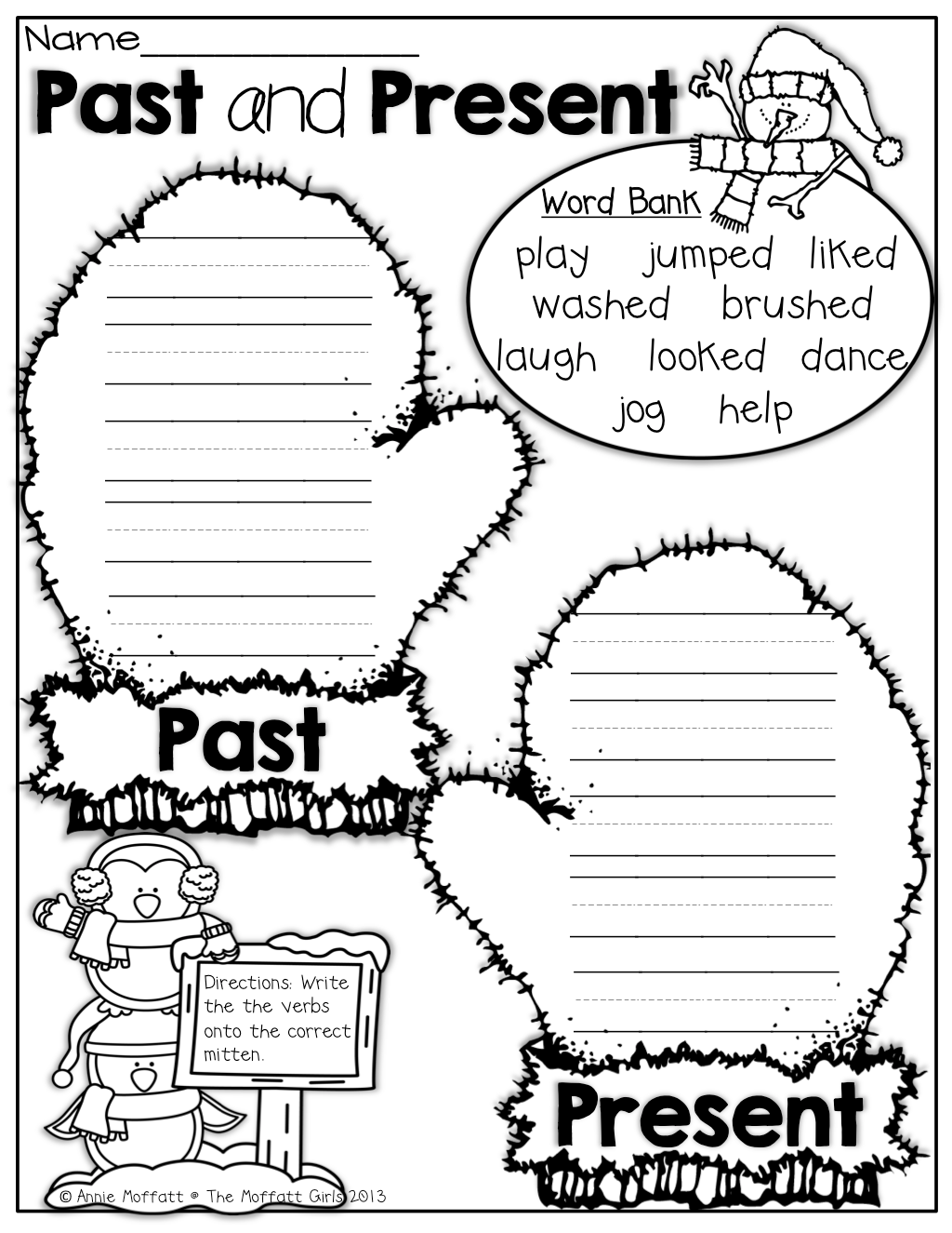 Worksheet On Present Tense For Grade 3