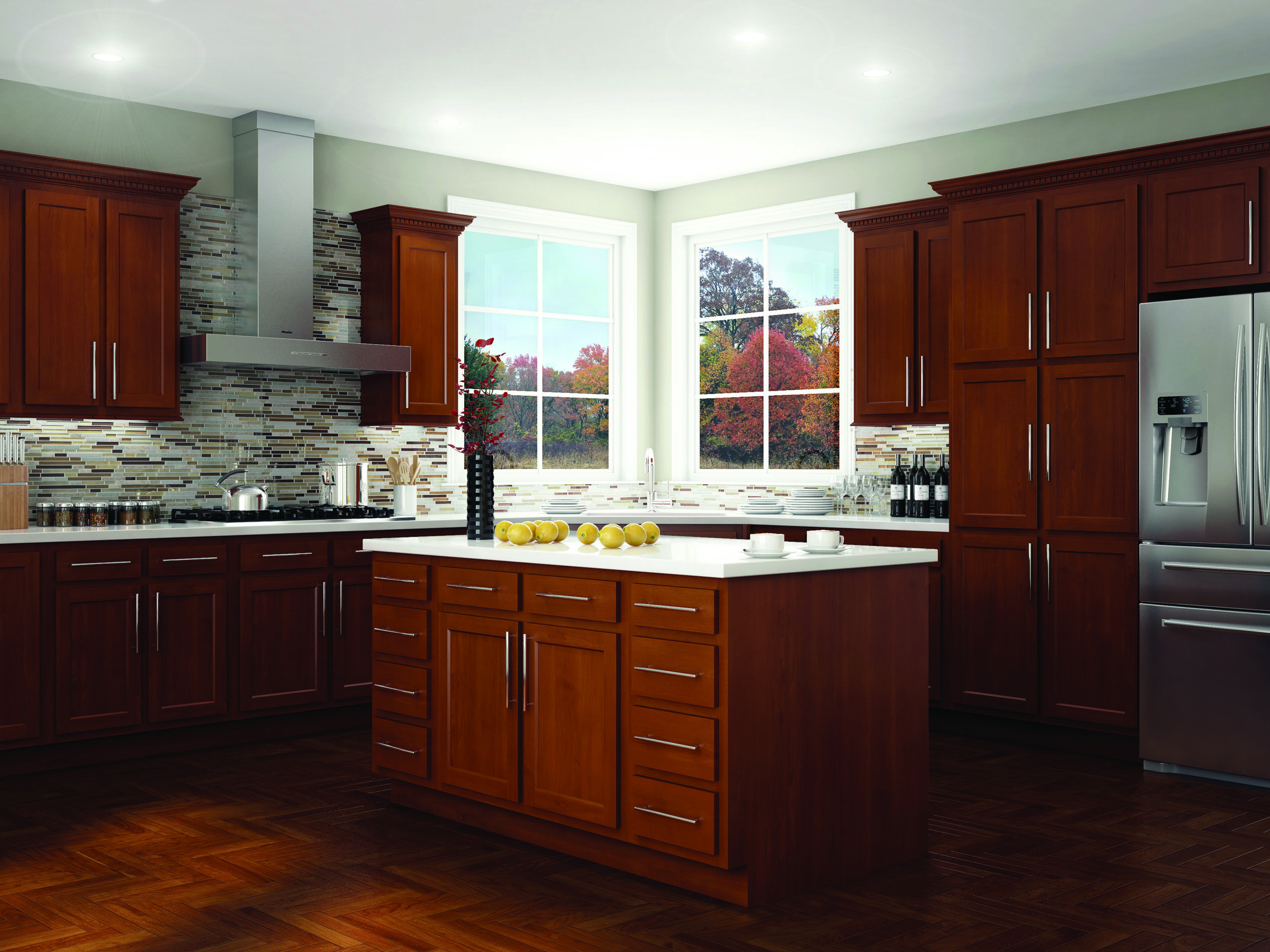 kitchen cabinets menards space saving table kompact glenwood beech ideas for the