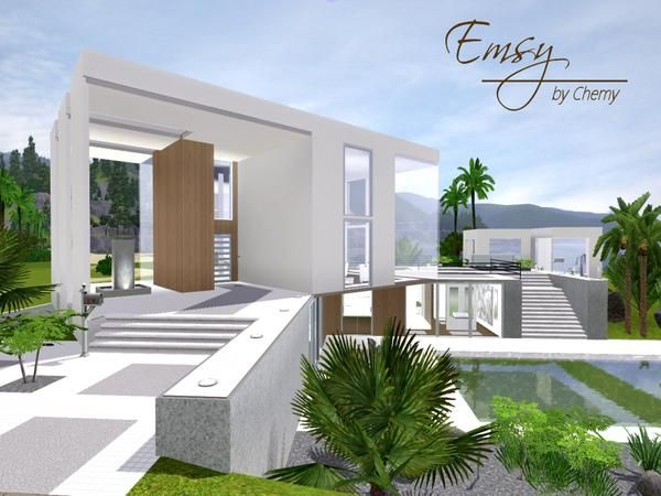 Emsy Ultra Modern House By Chemy Sims 3 Downloads CC Caboodle