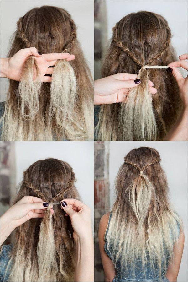 Waterfall Braids Hair Tutorial Hair Styles Pinterest Haar