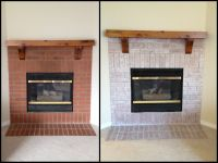 Whitewashed Fireplace - Before & After | Start getting ...