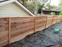 Horizontal wood fence design in portland oregon. This ...