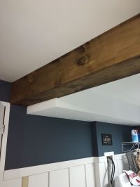 My first faux wood #beam DIY. Used pine board and Minwax ...
