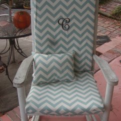 Polka Dot Rocking Chair Cushions Portable Folding Lightweight Nursery Or Indoor Outdoor Custom