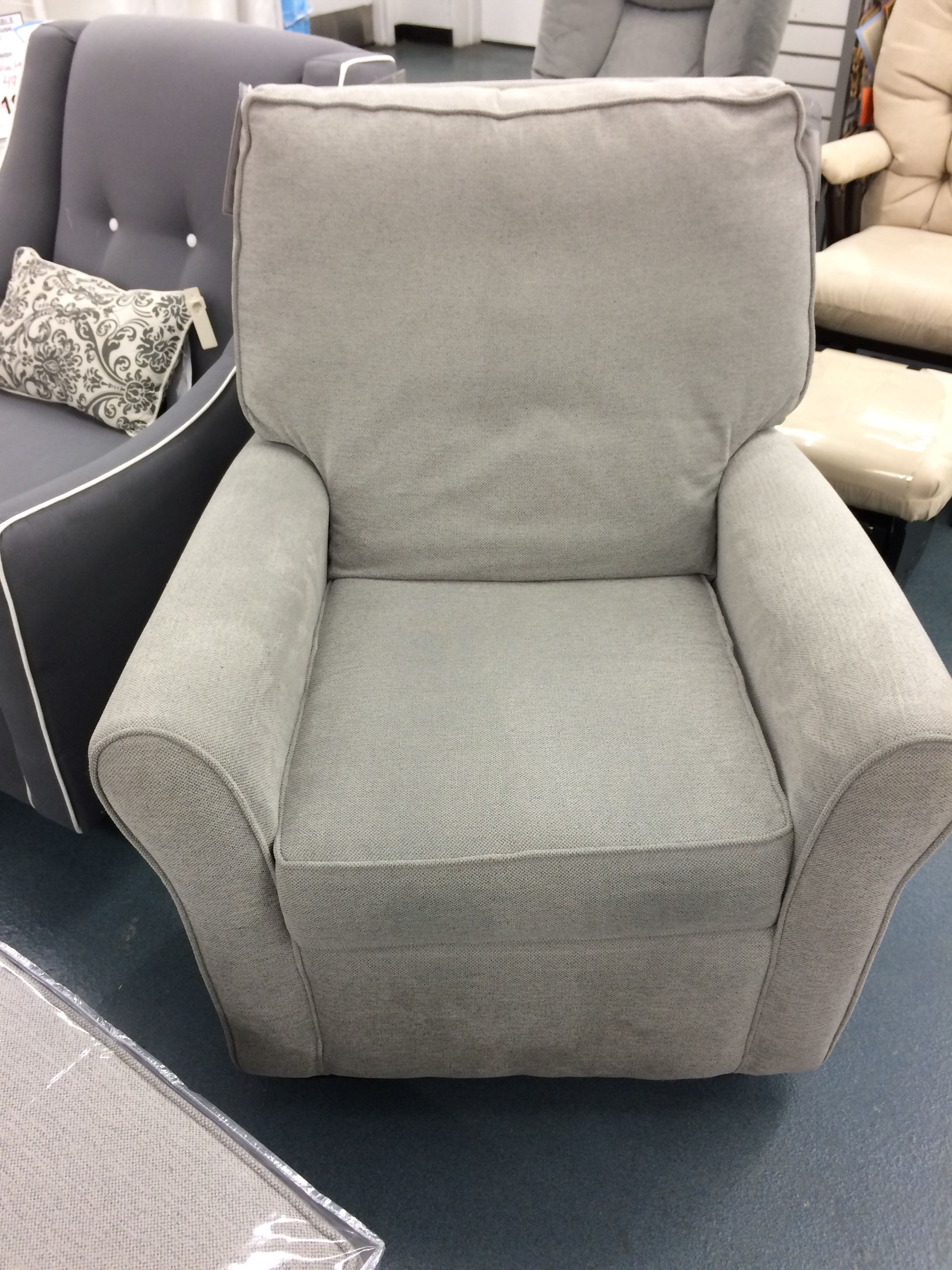 little castle chair and half glider green upholstered serra at nyc buybuybaby baby room