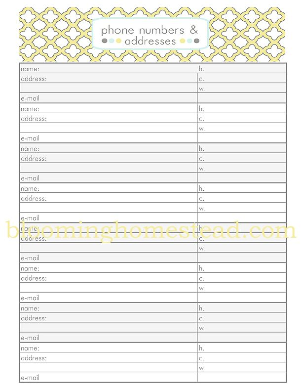 Family Reunion Planning Forms