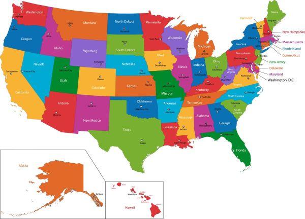 Nebraska USAMap of United States and territories