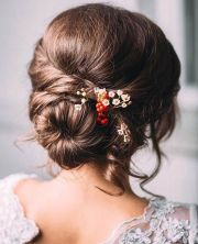 bun pretty wedding hairstyles