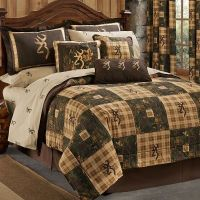 Browning Country 4 Pc TWIN Quilt Comforter Bedding Set