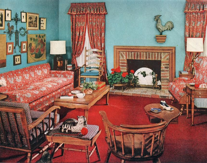1940s room decor
