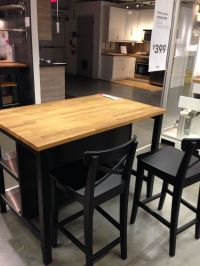 ikea stenstorp kitchen island dark oak - back kitchen ...