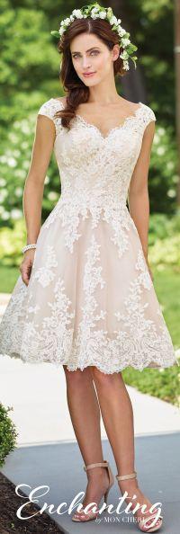 Knee Length Wedding Dress- 117185- Enchanting by Mon Cheri ...
