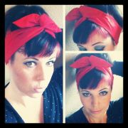 bandana hair bows ideas