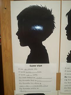 Guess Who I Am Silhouettes For Open House Bulletin Boards