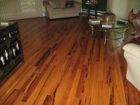 Floor Decor installation of Exotic Tigerwood 3/4 x 3 ...
