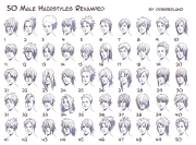 anime hairstyles guys side