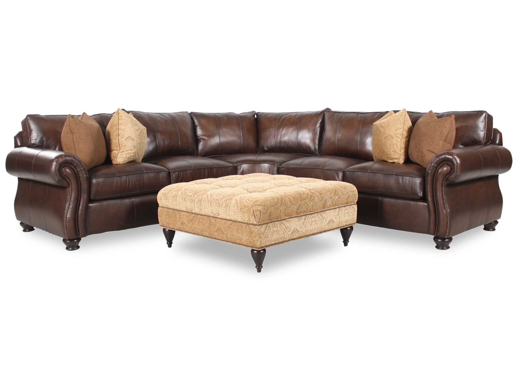 bernhardt sofas clearance modular leather van gogh two piece sectional with square