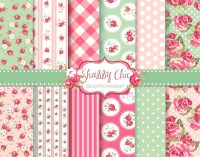 12 Shabby Chic Rose backgrounds