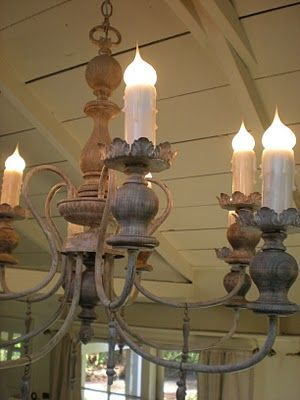 Tutorial For Zinc Like Finish An Old Black Or Brass Chandelier Love This Treatment