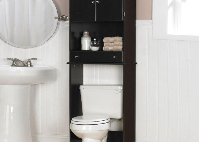 Bathroom cabinet black also ideas pinterest towels